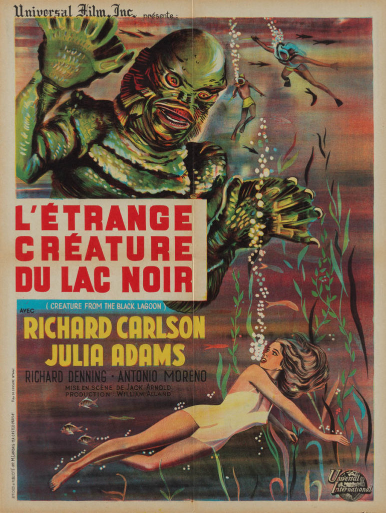 the french poster for creature from the black lagoon